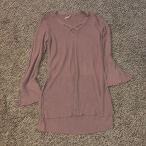 Mauve Free People Long Sweater - Size Small